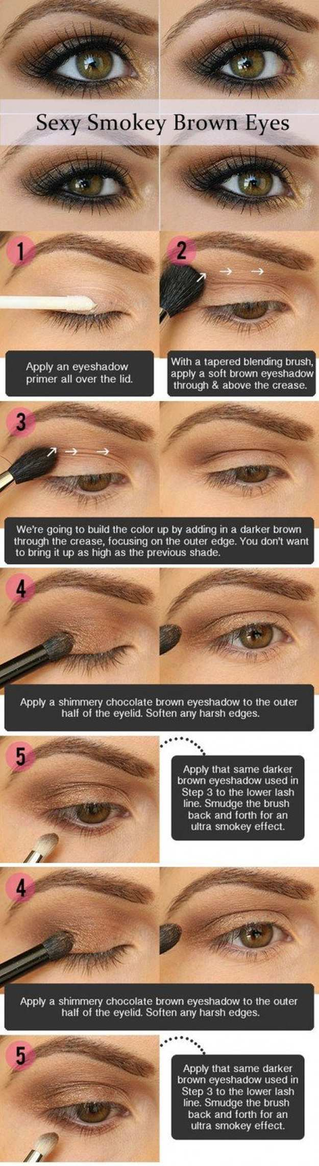 eye makeup for brown eyes steps gorgeous easy makeup